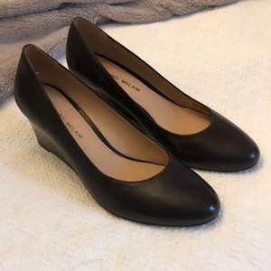 Brown Leather Antonio Melani Wedges
